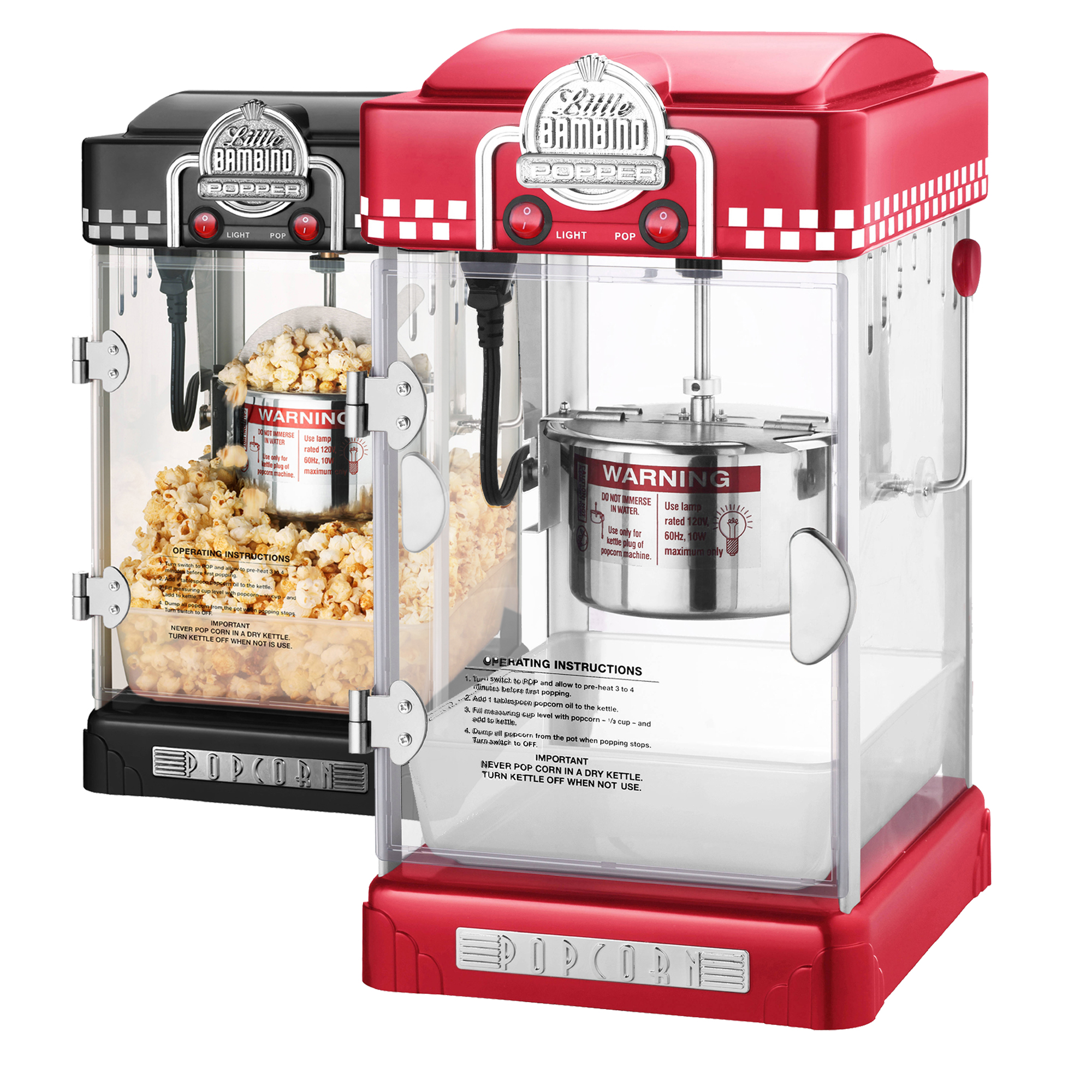 little bambino retro 2 5 oz tabletop kettle popcorn popper. Black Bedroom Furniture Sets. Home Design Ideas