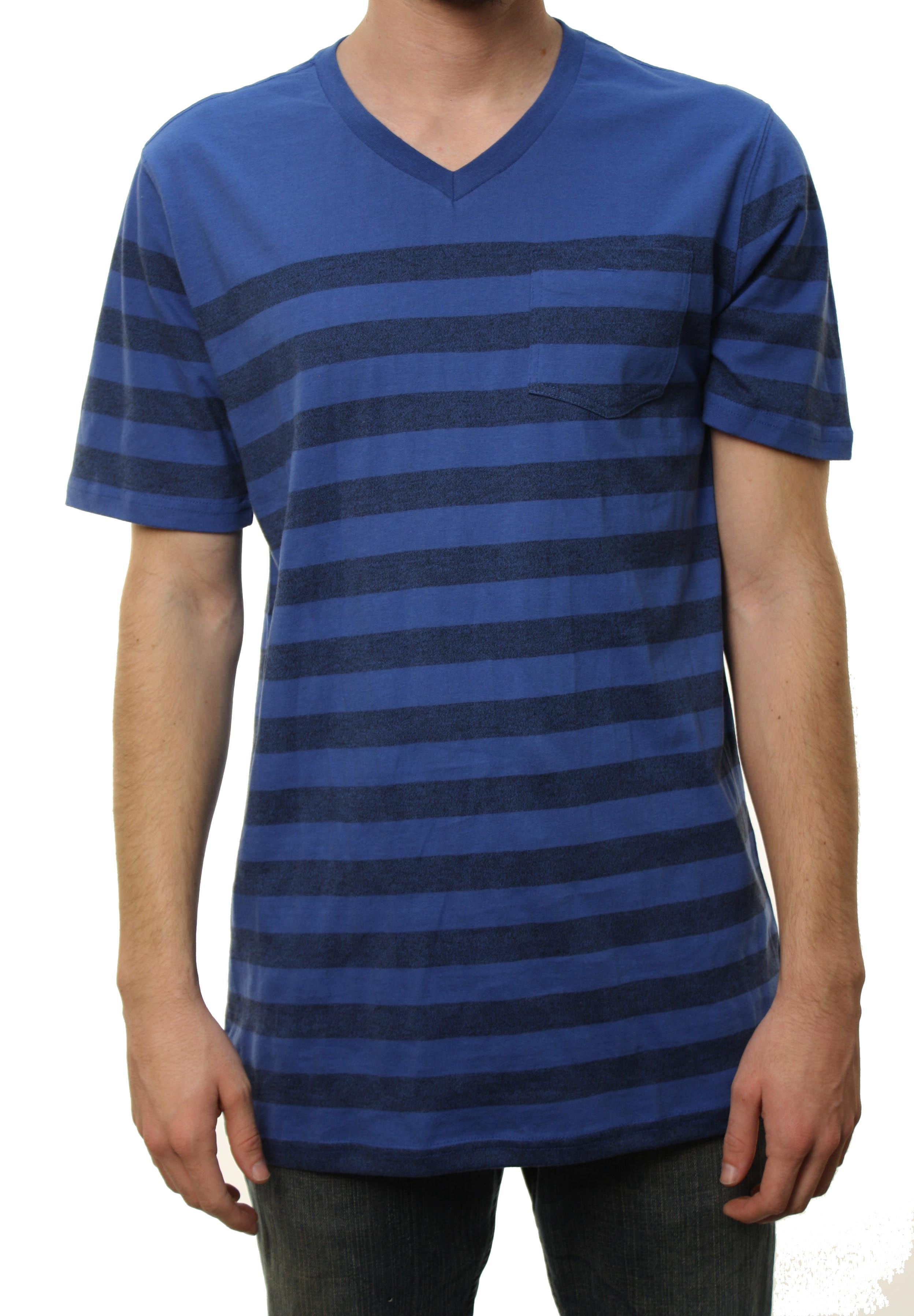 "Quiksilver Men's ""Ginnis"" V-Neck T-Shirt Striped Blue 108199-BLU at Sears.com"