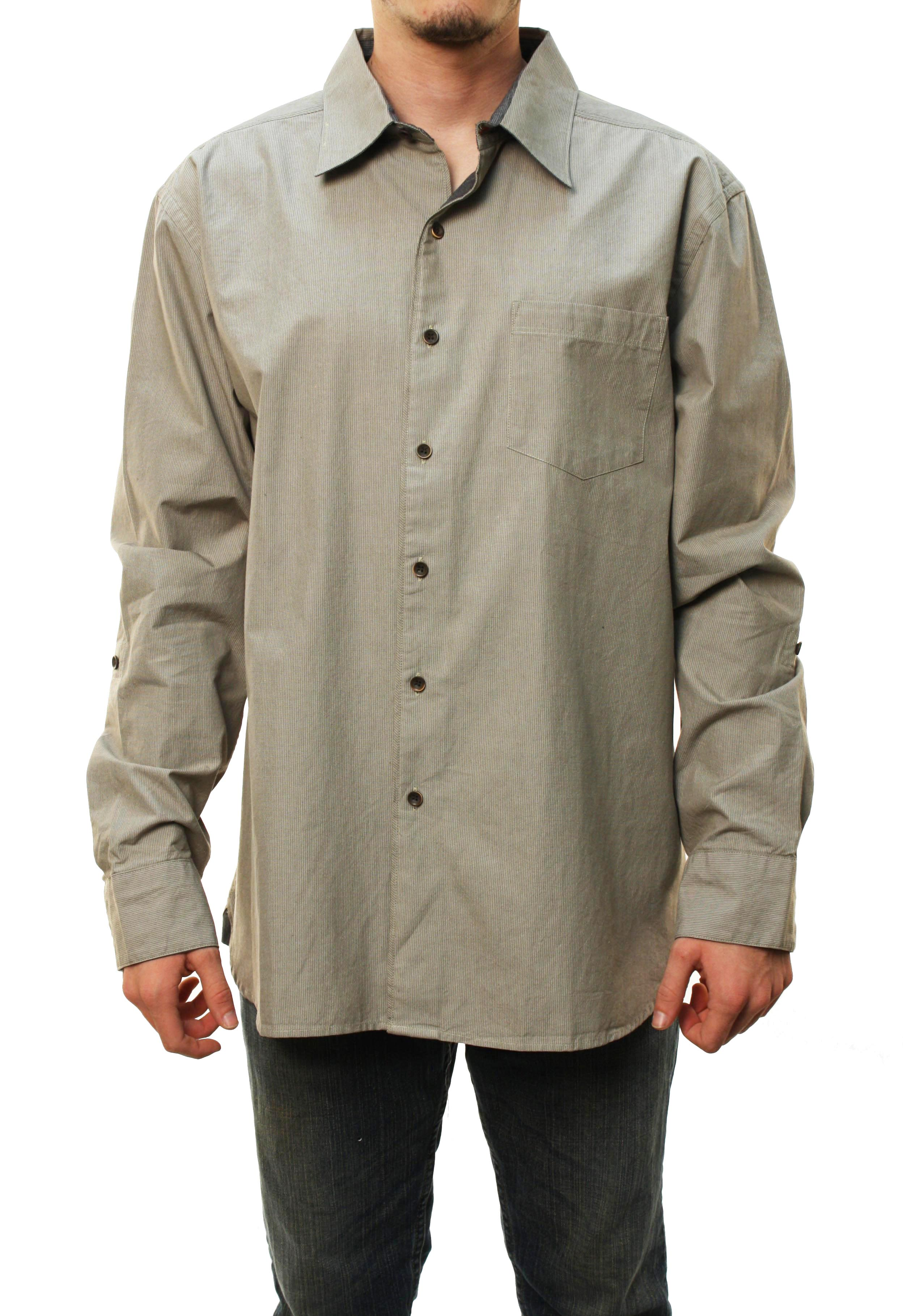 "Quiksilver Men's ""Ansteys Beach"" Button Down Shirt Beige 509796-LBR at Sears.com"