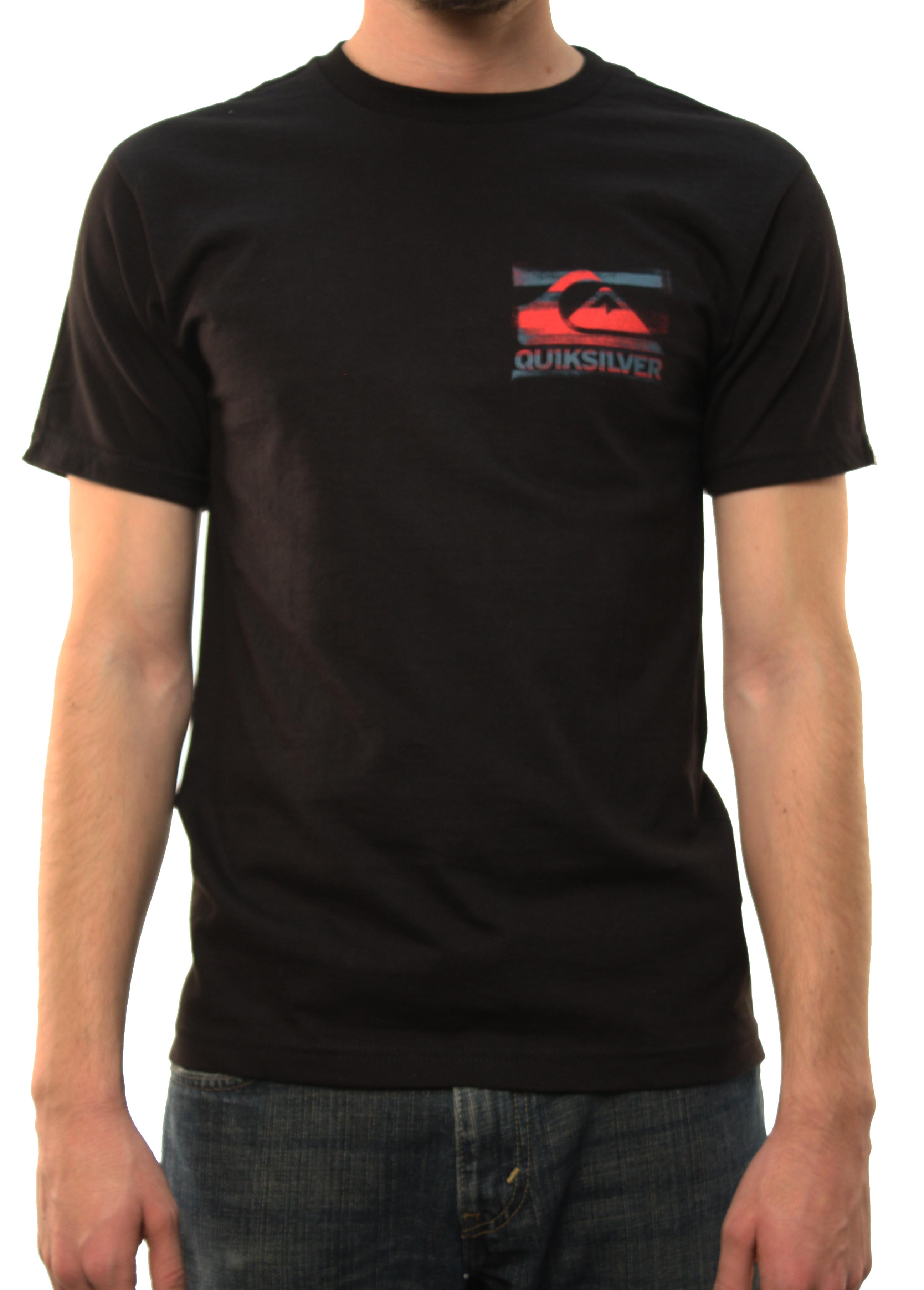 "Quiksilver Men's ""Hesitate-MT0 LaJolla"" T-Shirt Black 12036LP7-BLK at Sears.com"