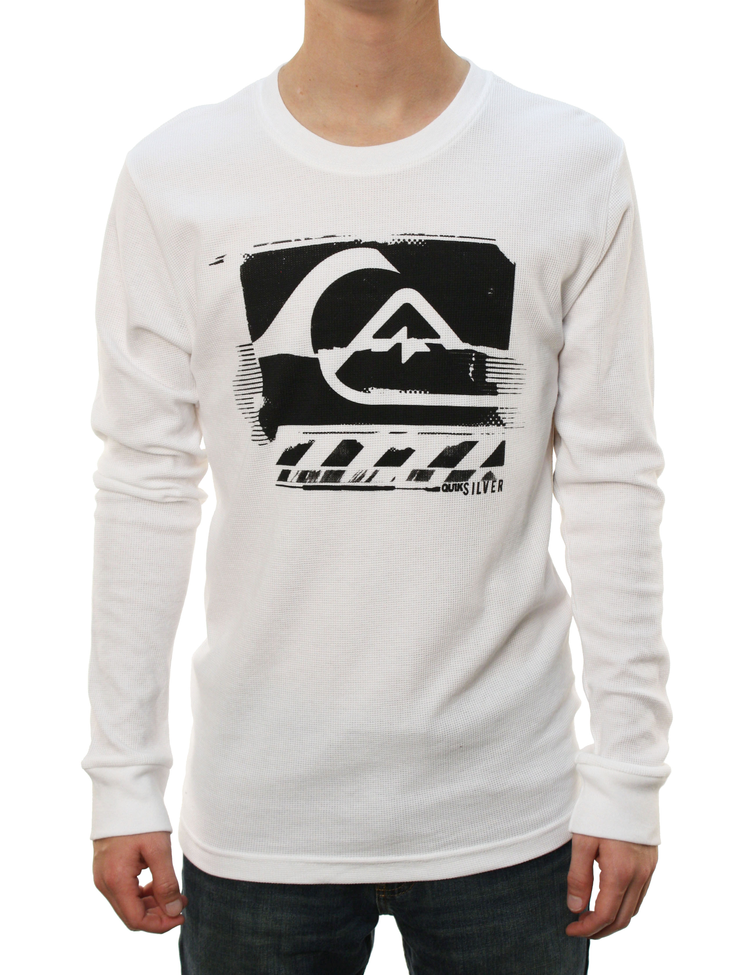 "Quiksilver Men's ""HIGH ROLLER MCR"" Long Sleeve Thermal Shirt White at Sears.com"