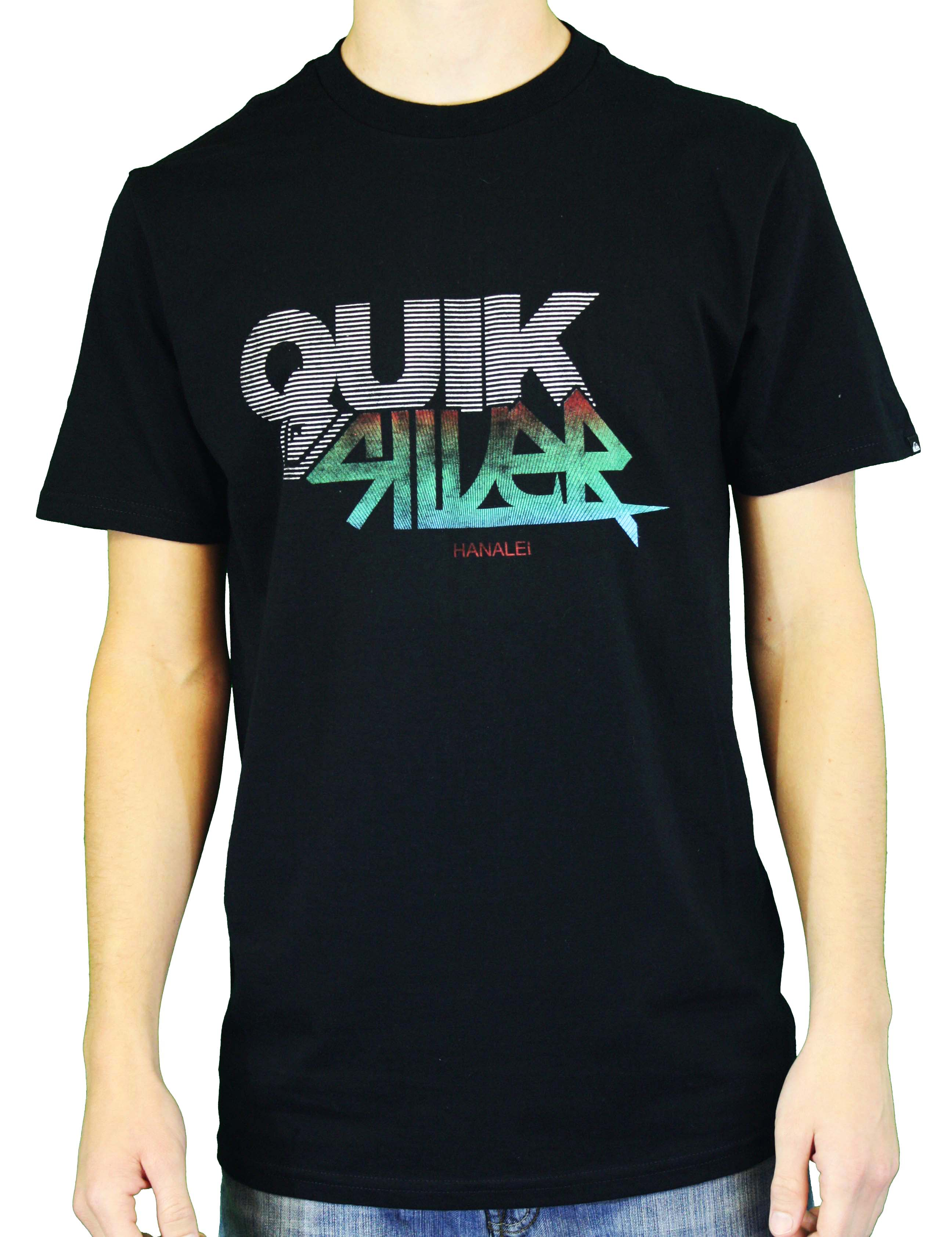 "Quiksilver Men's ""Down Under MT0-Hanalei"" T-Shirt Black 12098NL1-BLK at Sears.com"