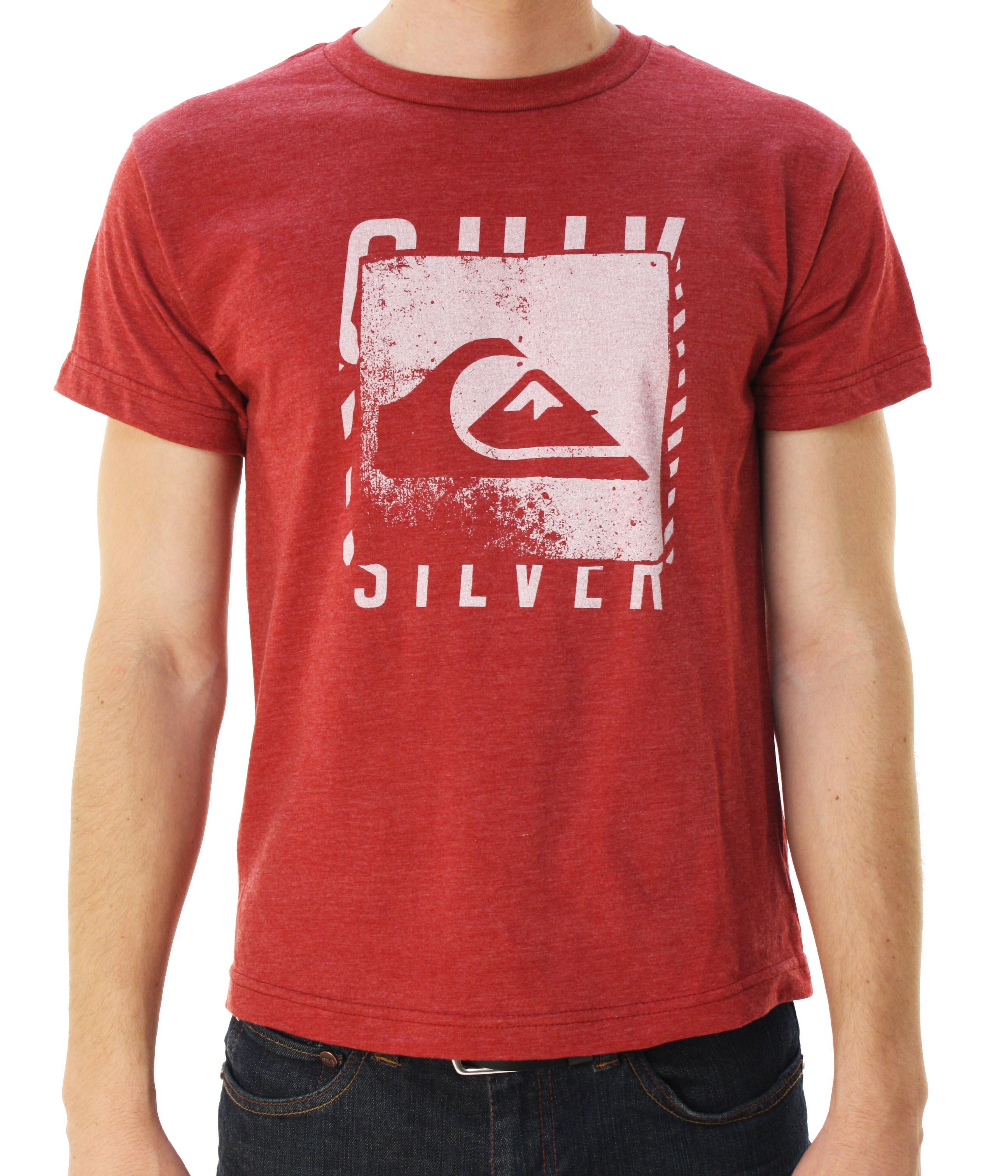"Quiksilver Boy's ""Kramer-BGZ"" Short Sleeve Graphic T-Shirt Brick Red at Sears.com"