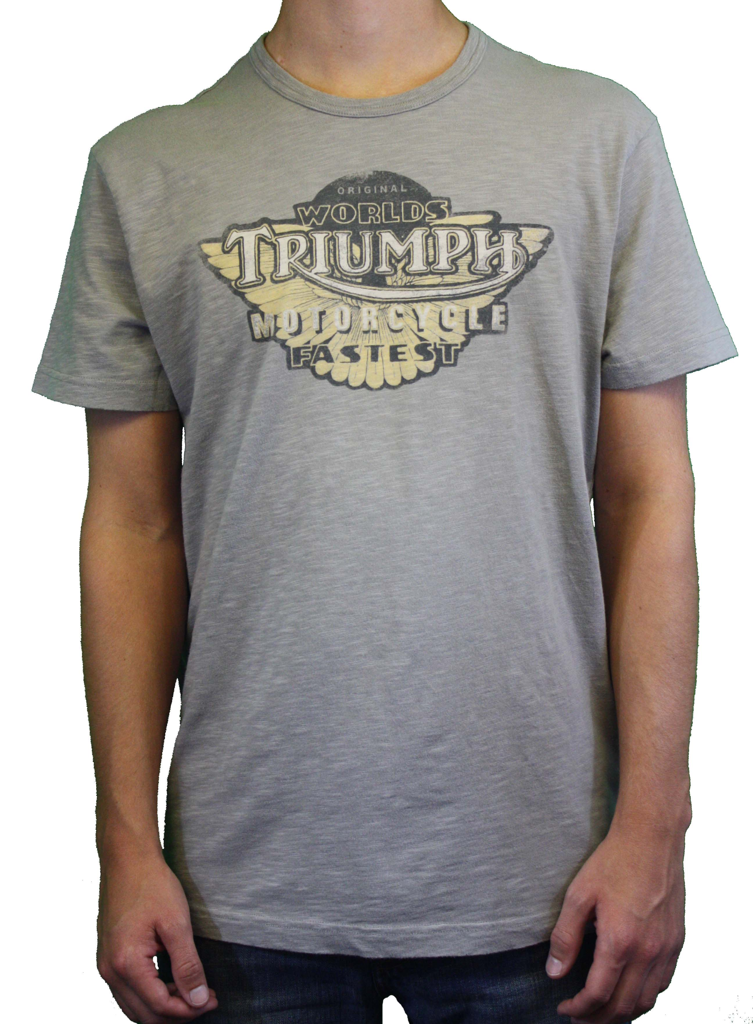 Lucky Brand World 39 S Triumph Motorcycle Gray Short Sleeve