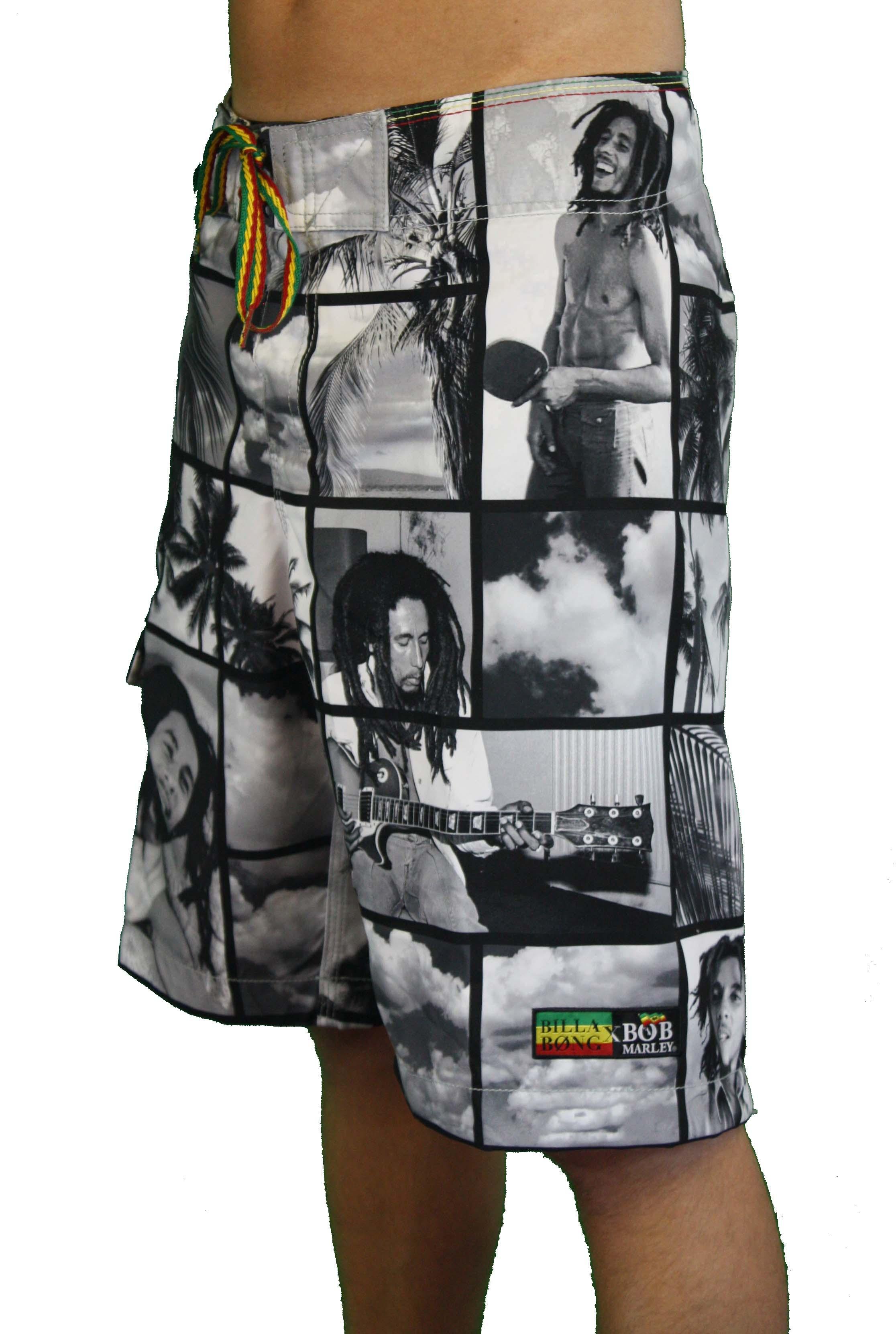 Billabong-Mens-Bob-Marley-String-It-Up-Boardshorts-Swim-Trunks-Rasta
