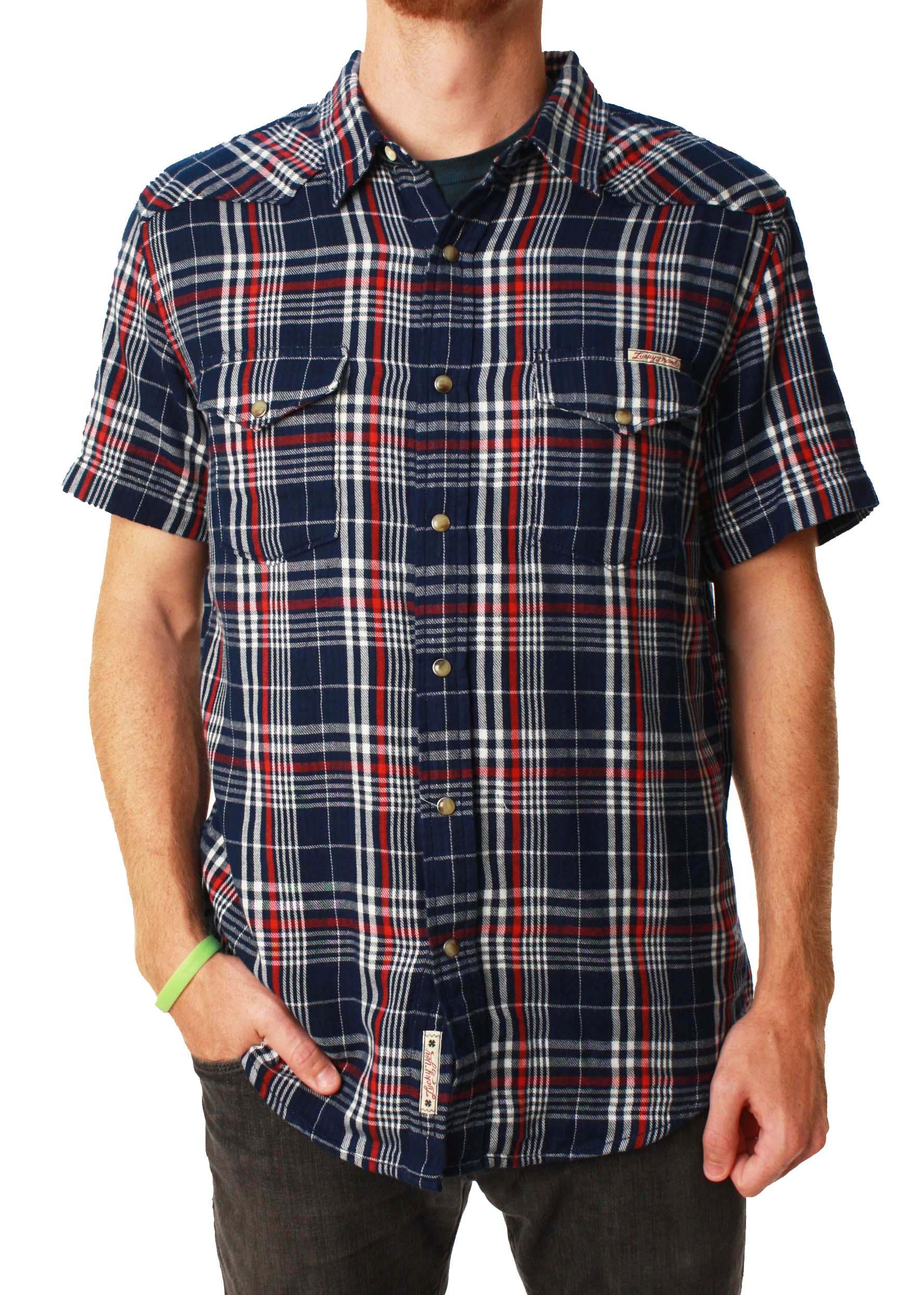 Lucky Brand Men's Western Sportswear Short Sleeve Button Up Flannel Shirt at Sears.com