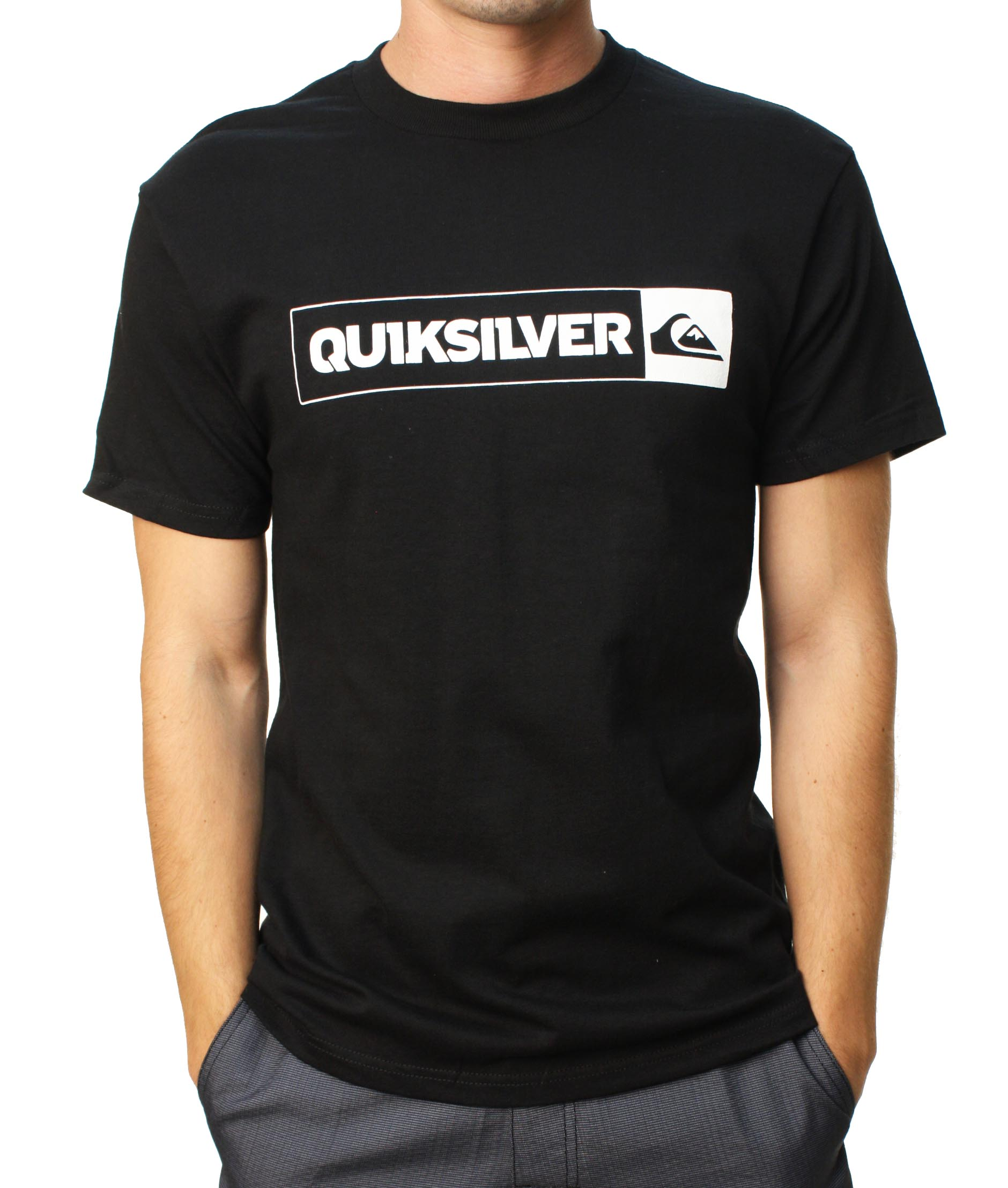 "Quiksilver Men's ""Mystery Meat-MT0"" Short Sleeve T-Shirt Black QSYT0H55-BLK at Sears.com"