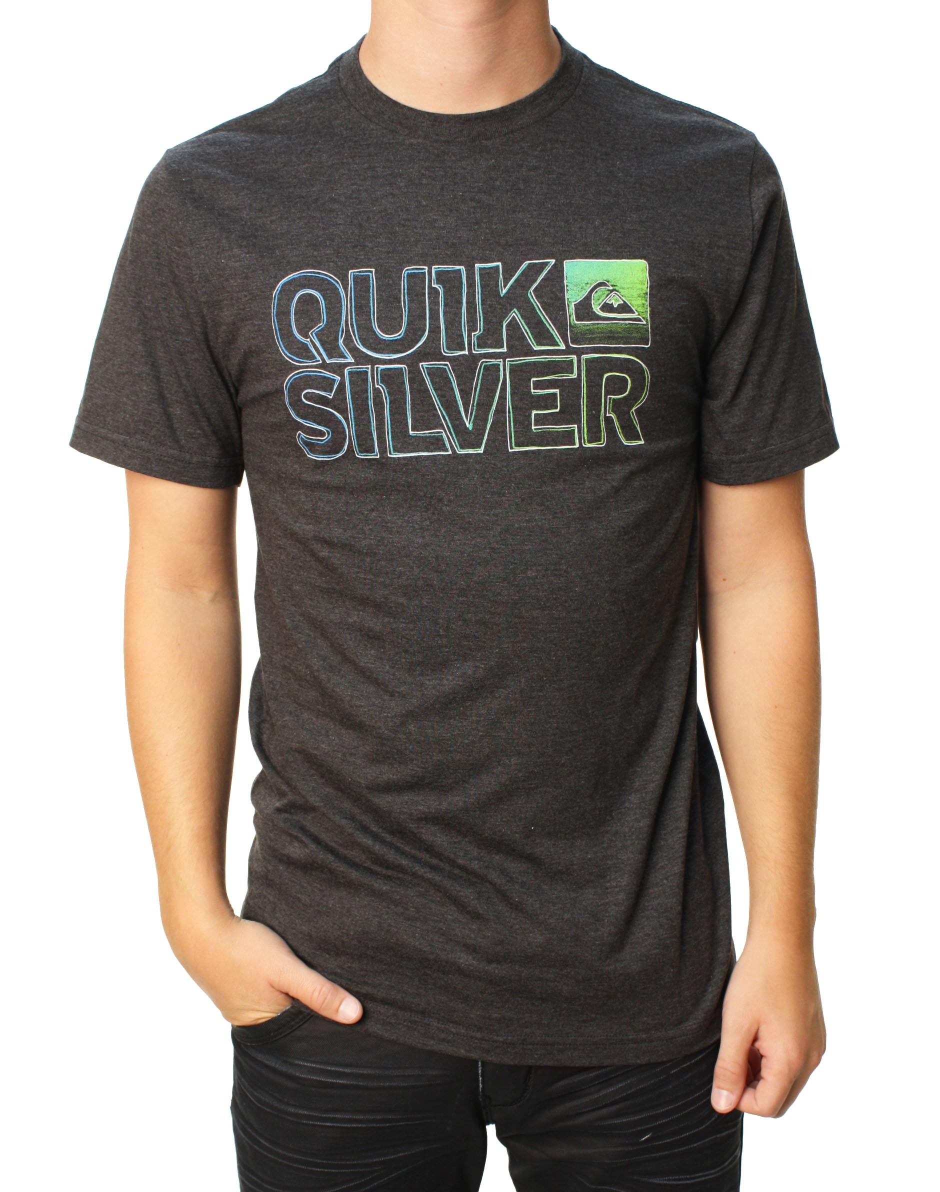 "Quiksilver Men's ""False Impression MT4"" T-Shirt Charcoal 112T4MW7-CHH at Sears.com"
