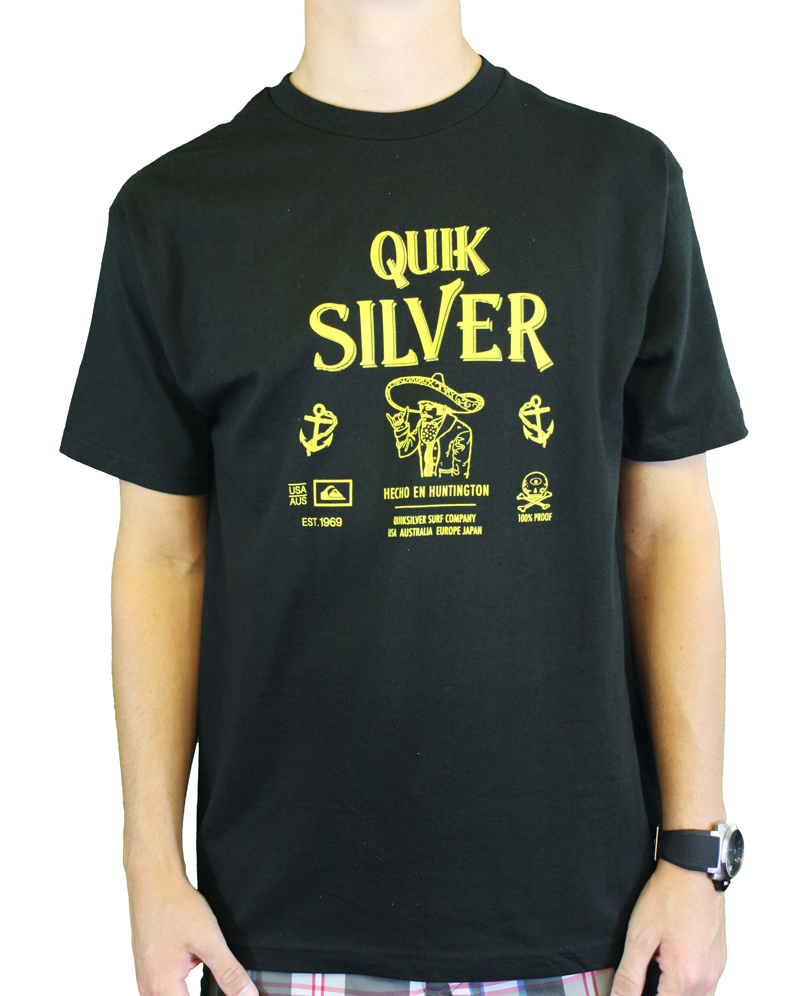 "Quiksilver Men's ""El Hefe-MT4"" Black T-Shirt QSYT4HD5-BLK at Sears.com"