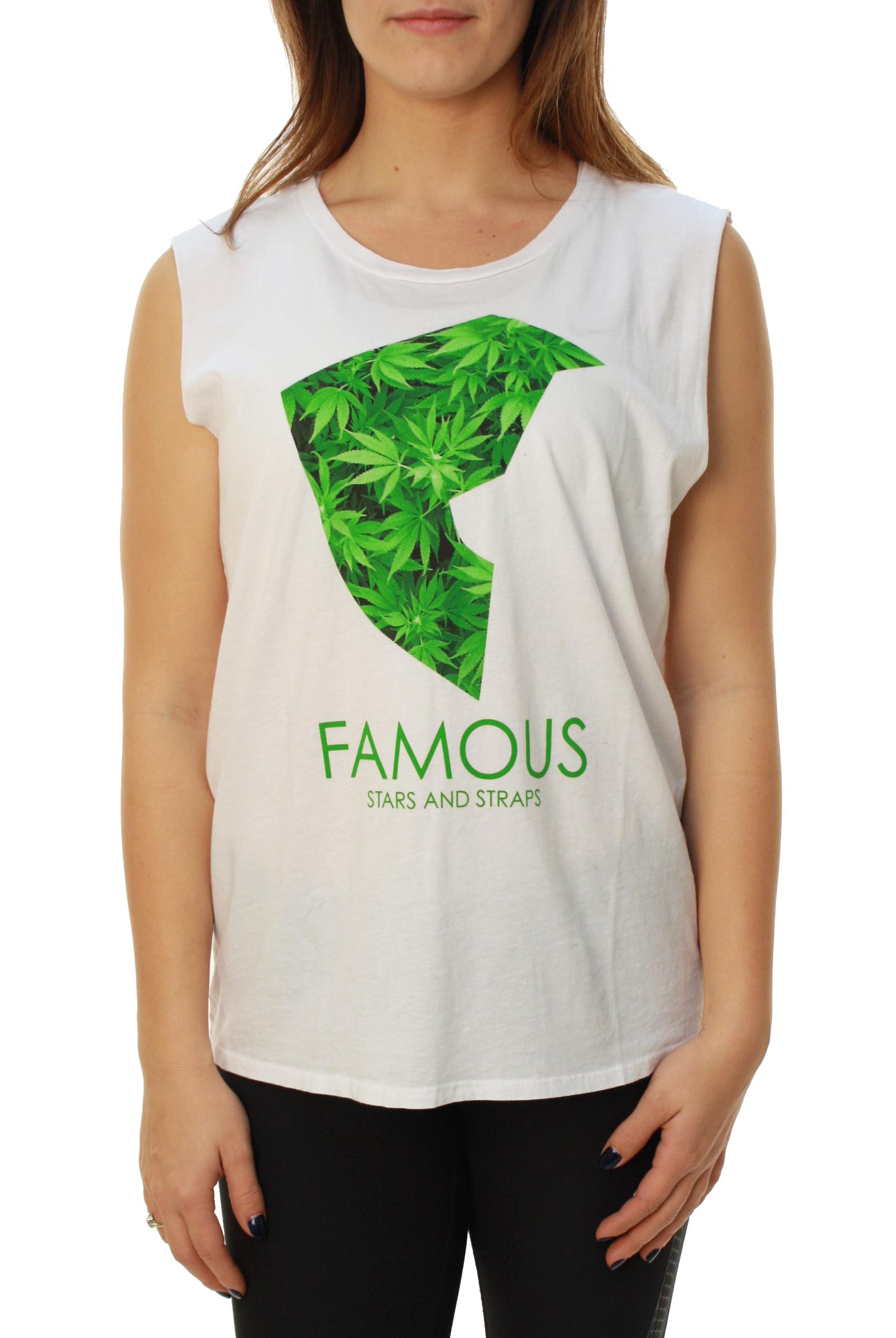 Famous Stars and Straps Women's Medicinal Juniors Muscle Tank Top