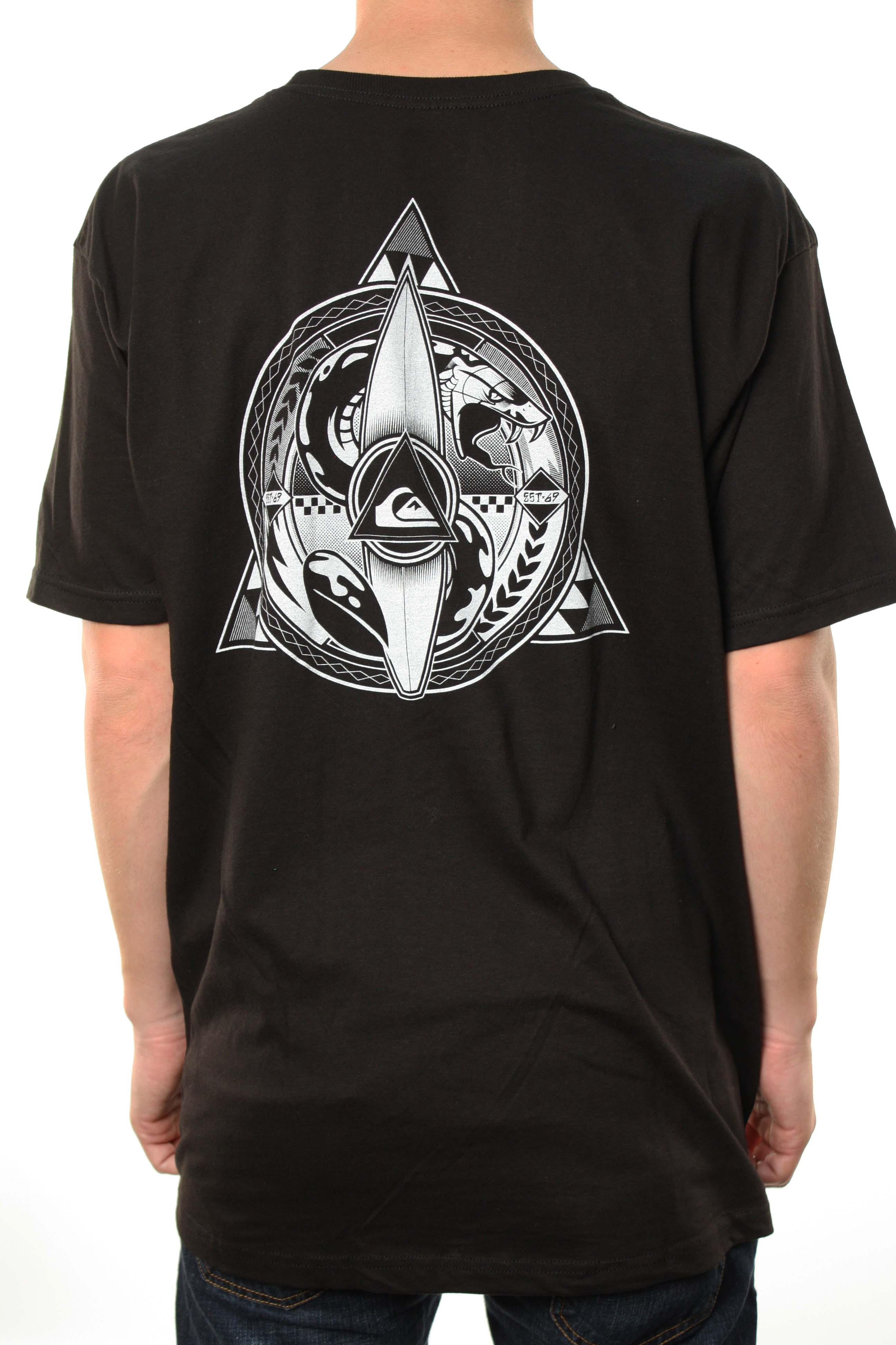 "Quiksilver Men's ""Snake Breed-MT4"" Snake Surf Racer Black T-Shirt at Sears.com"