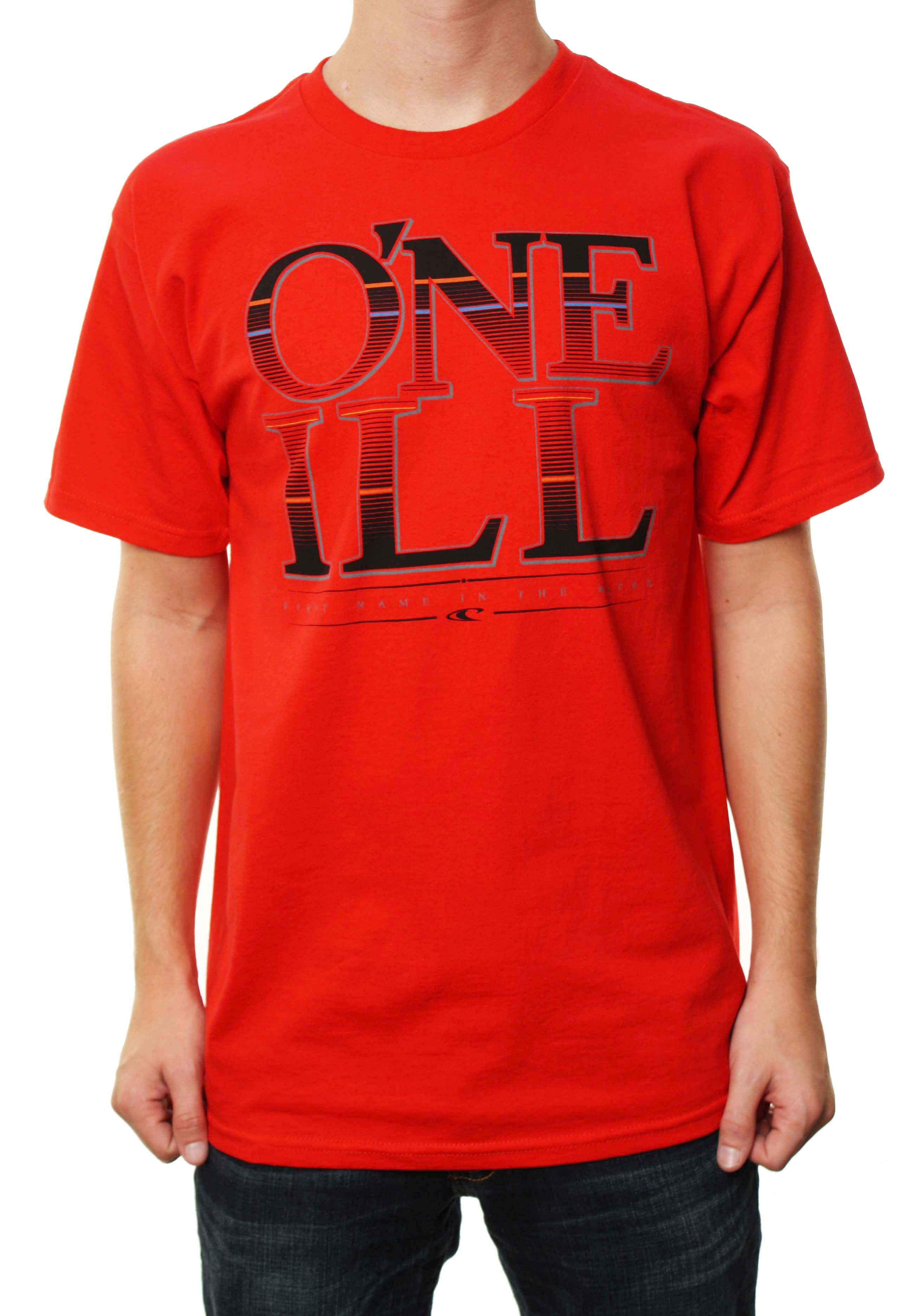 "O'neill Men's ""First Name In The Water"" Red T-Shirt W/Large  Logo at Sears.com"