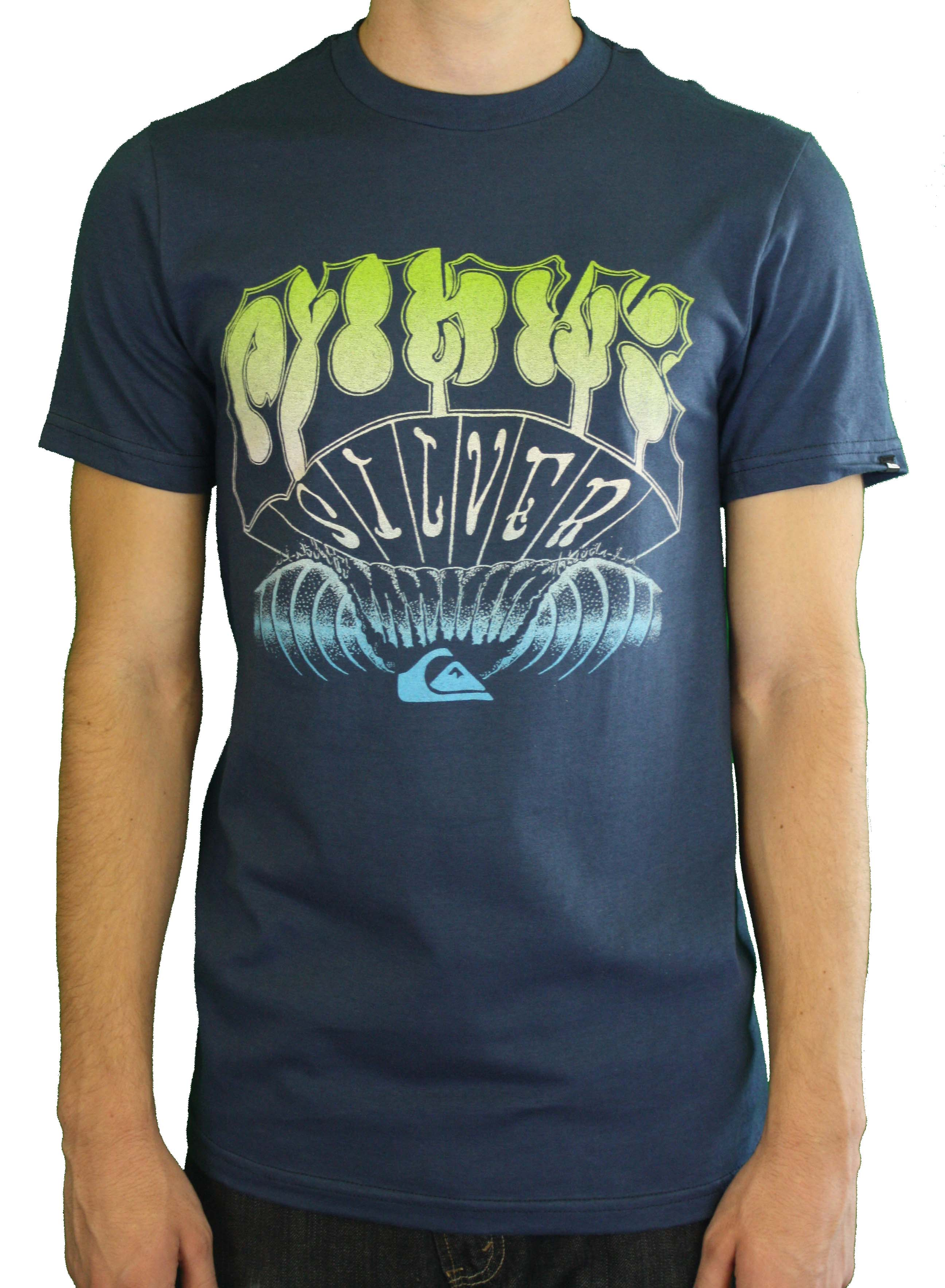 "Quiksilver Men's ""Night Rider MTO"" Blue T-Shirt 112T0PF6-NVY at Sears.com"
