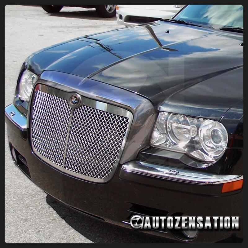 05-10 Chrysler 300C Mustache Chrome Front Hood Grille Trim