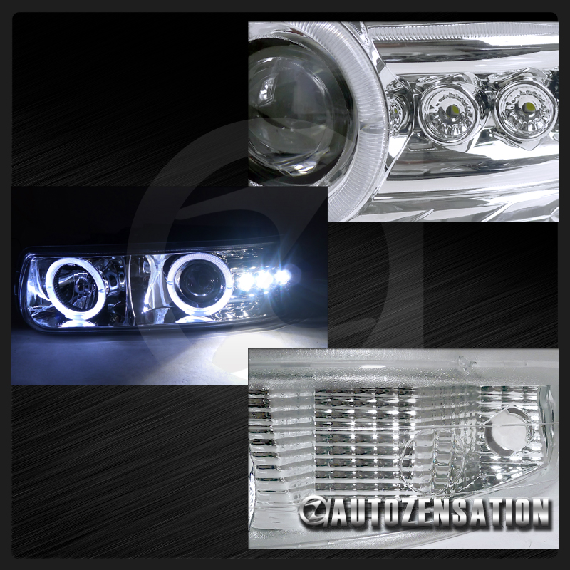 chevy silverado taho suburban chrome halo projector led headlight bumper lights ebay