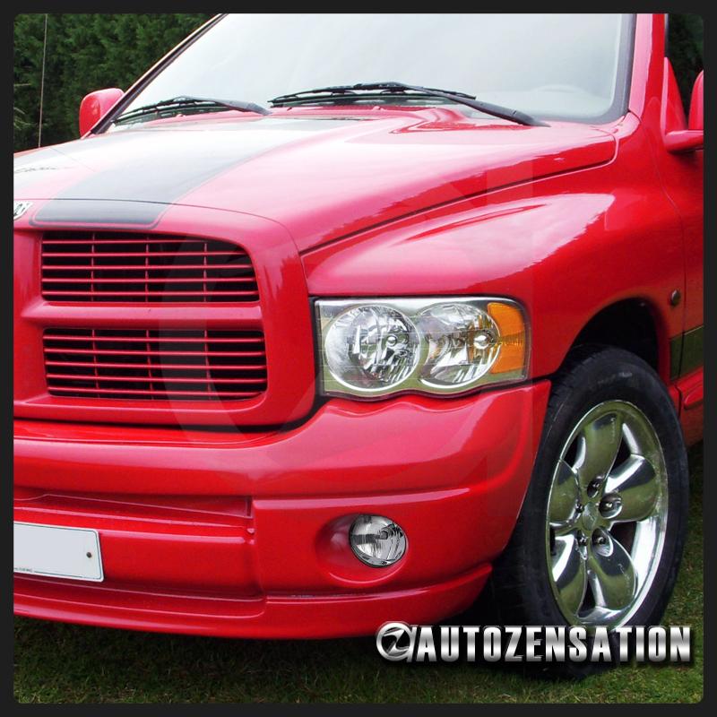 2006 2008 Dodge Ram 1500 2500 3500 Smoke Front Bumper: 2002-2008 Dodge Ram 1500/2500 Clear Bumper Fog Lights W