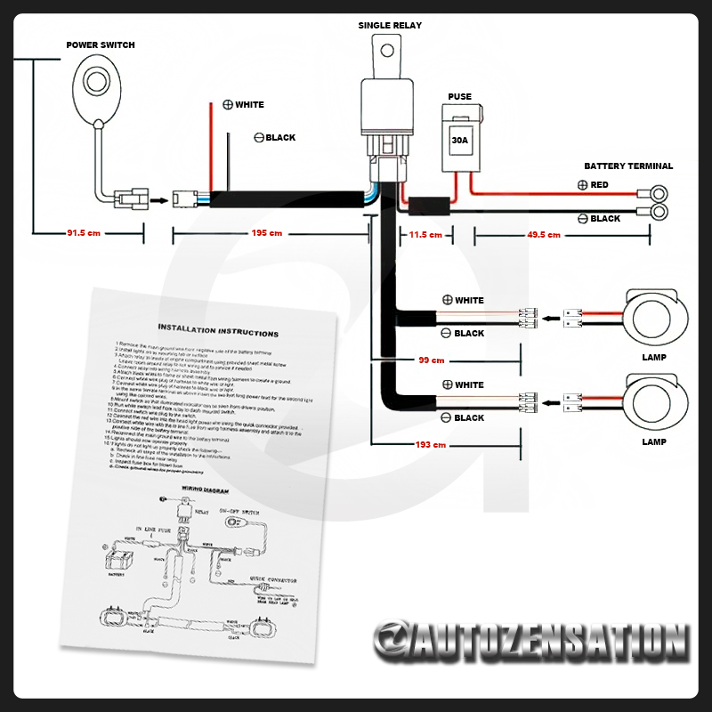 new halogen light wiring diagram