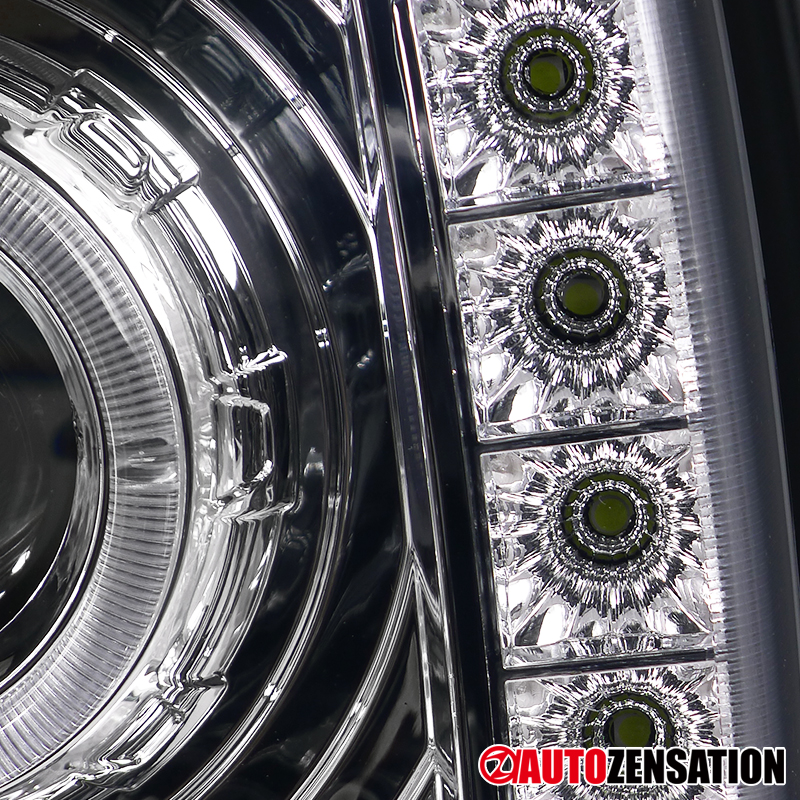 97 01 Jeep Cherokee Crystal Chrome Halo SMD LED DRL