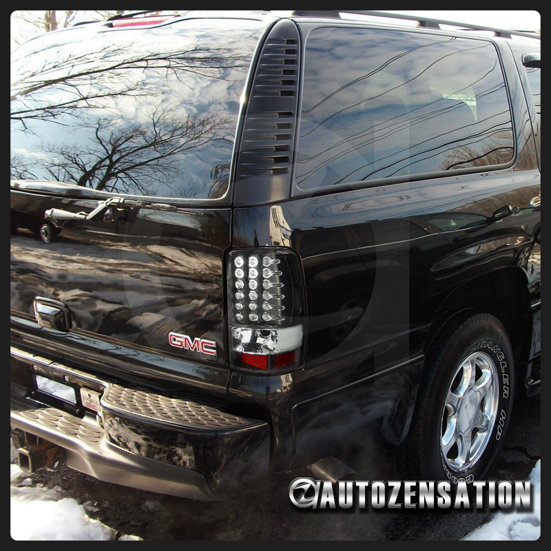 00-06 Tahoe Suburban Truck LED Tail Lights Black Rear