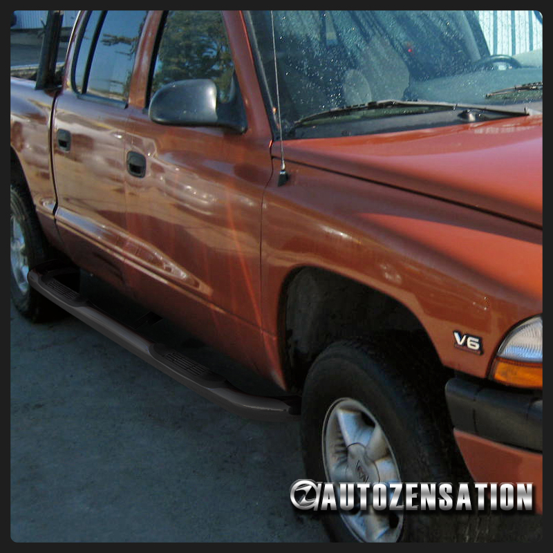 """00-04 Dodge Dakota Quad Cab 3"""" Black S/S Side Step Nerf"""