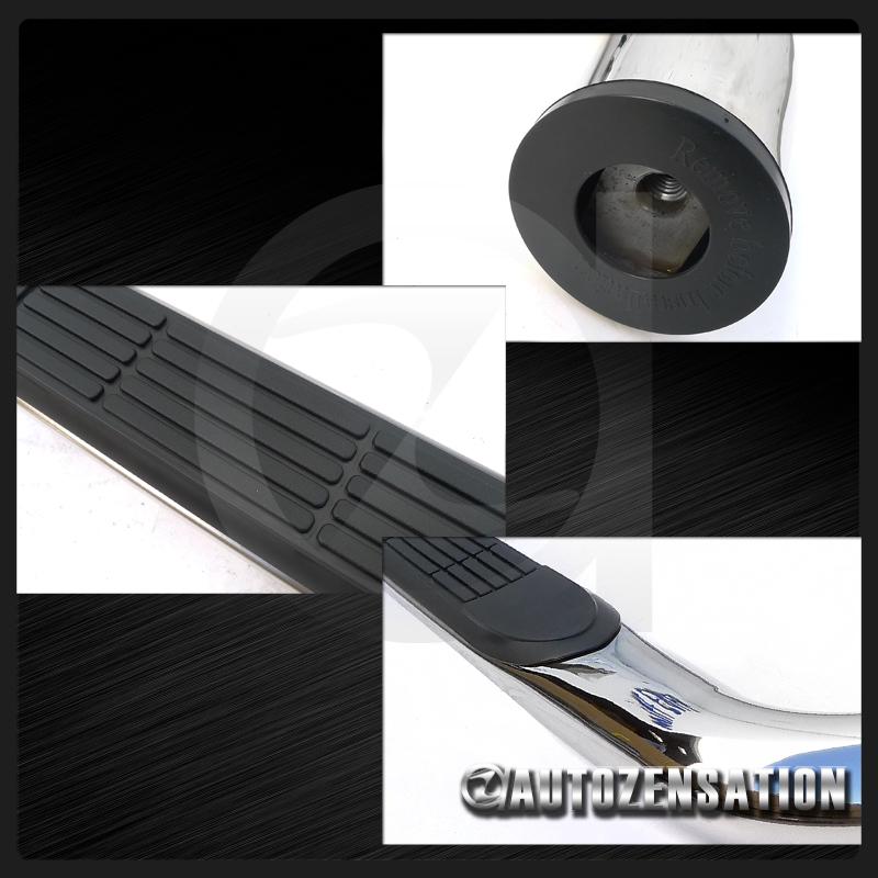 2000 2004 dodge dakota quad cab 3 s s side step nerf bars. Black Bedroom Furniture Sets. Home Design Ideas