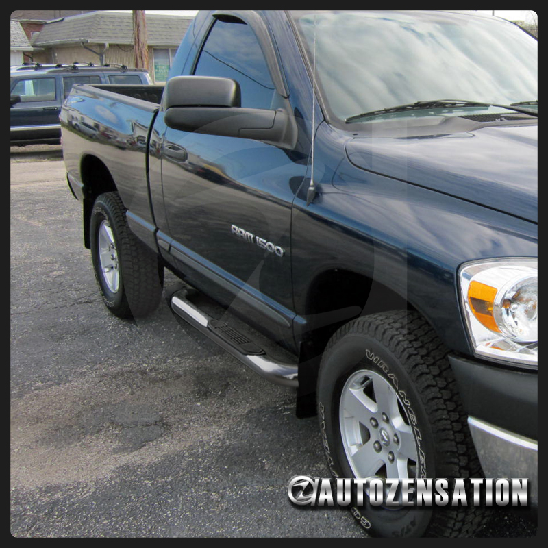 "2010 Dodge Ram 2500 Regular Cab Exterior: 02-08 Dodge Ram Regular Cab 3"" Chrome Polished S/S Running"
