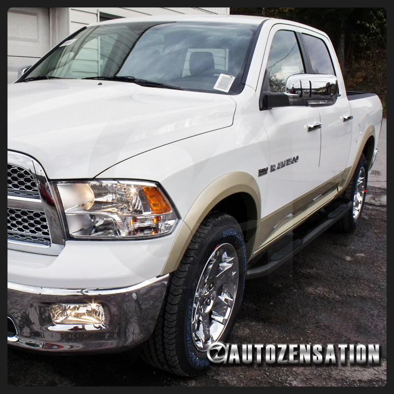 """2009-2015 Dodge Ram 1500 Crew Cab 3"""" Stainless Steel Side"""