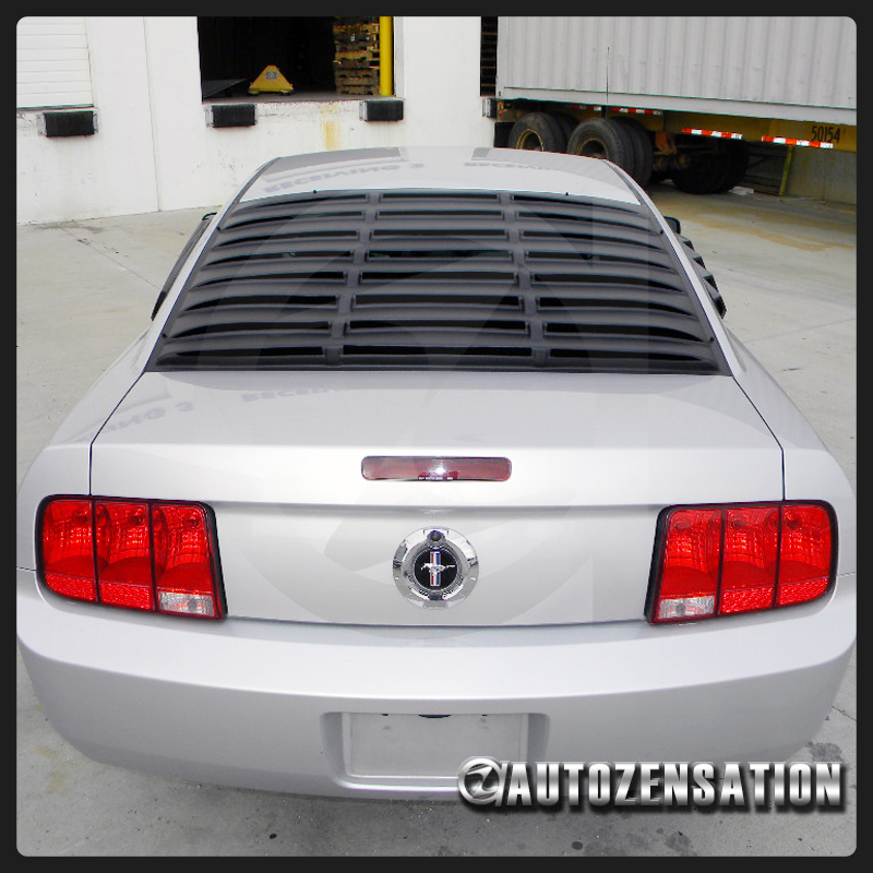 2005 2014 Ford Mustang Gt V6 V8 Black Rear Window Louver