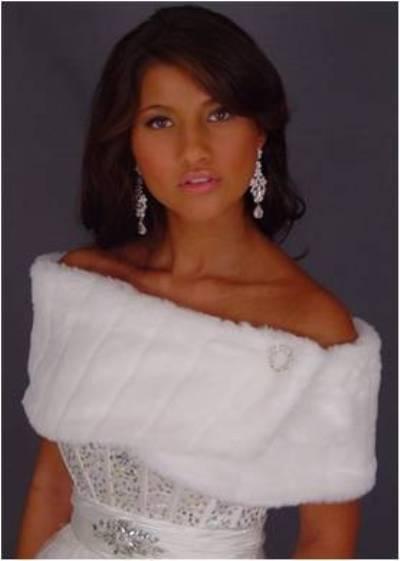 Fauxbulous Wholesale Suevas Mink Faux Fur Capelet Wrap White Size: Adult 2-14 Fauxbulous Apparel at Sears.com