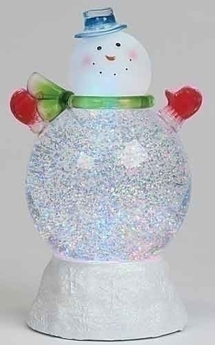 Roman Snowman with Swirling Glitter LED light Glitterdome Collection Roman 35556 at Sears.com