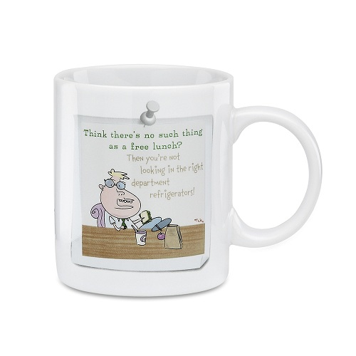 PAVILION Cartoon Coffee Mug Gift No Free Lunch Honest Days Work The Office at Sears.com