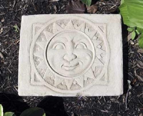 Sun Face Stepping Stone Square Outdoor Decor Garden or Plaque ...