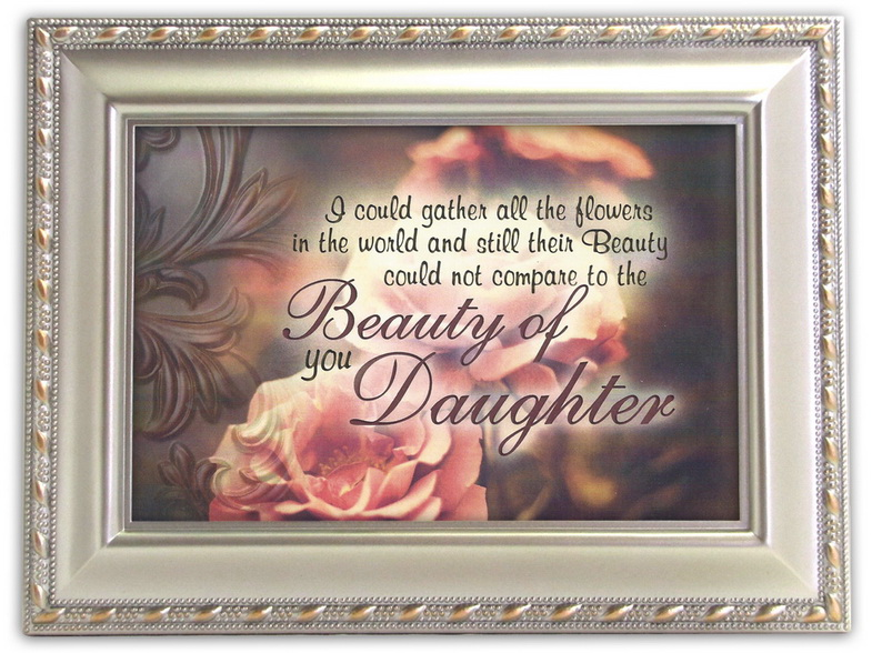 Cottage Garden Daughter You Are A Beauty Silver Look Music Jewelry Box Wind Beneath My Wings at Sears.com