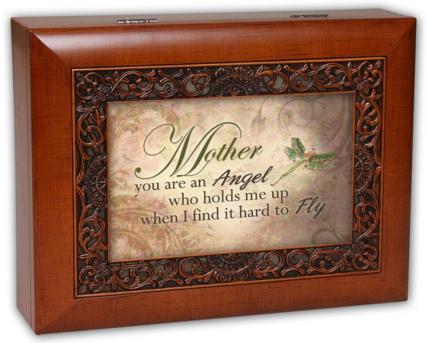 Cottage Garden You Help Me Fly Mother Fancy Woodgrain Music Jewelry Box Wonderful World IMB73 at Sears.com