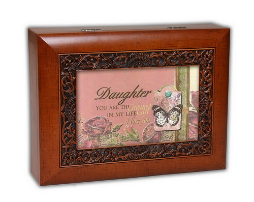 Cottage Garden Daughter Ornate Wood Grain Music Jewelry Box Plays Amazing Grace OMB84AG at Sears.com