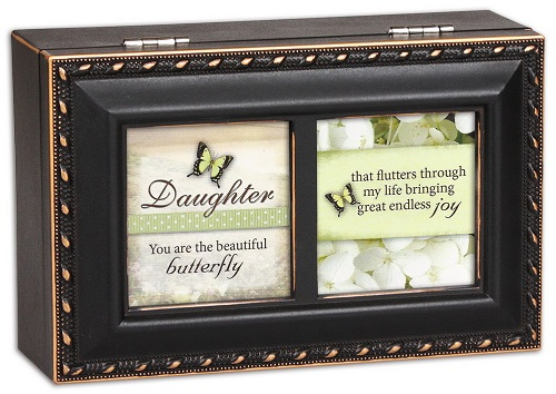 Cottage Garden Gift for Daughter Music Jewelry Box Wonderful World Tune Distressed Black PM5600 at Sears.com