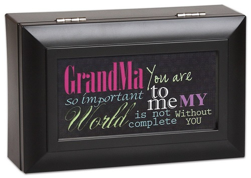Cottage Garden Subway Art Grandma You Are My World Music Jewelry Box Plays Wonderful World PM5595 at Sears.com