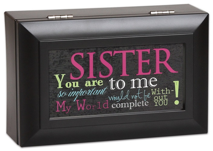 Cottage Garden Subway Art Sister You Are My World Music Jewelry Box Plays Wonderful World PM5599 at Sears.com