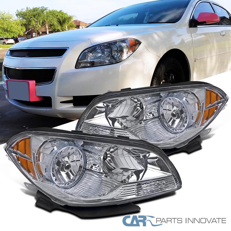 2008-2012 Chevy Malibu Chrome Replacement Headlights