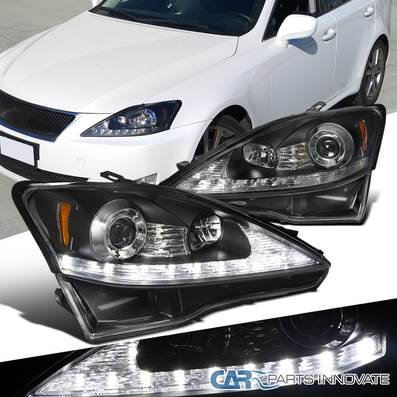 2006 2009 Lexus Is250 Black Smd Led Strip Projector