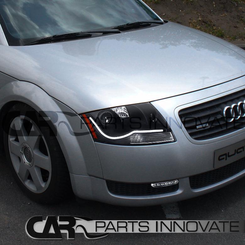 2001 Audi Tt Headlights: 1999-2006 Audi TT Black LED DRL Strip Projector Headlights