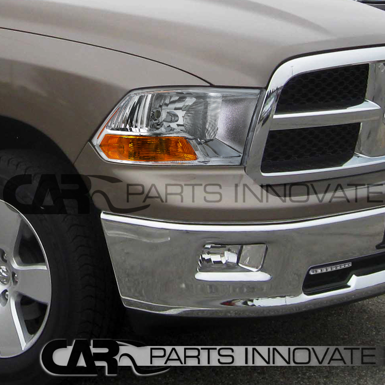 2009 2014 Dodge Ram 1500 2500 3500 Chrome Headlights