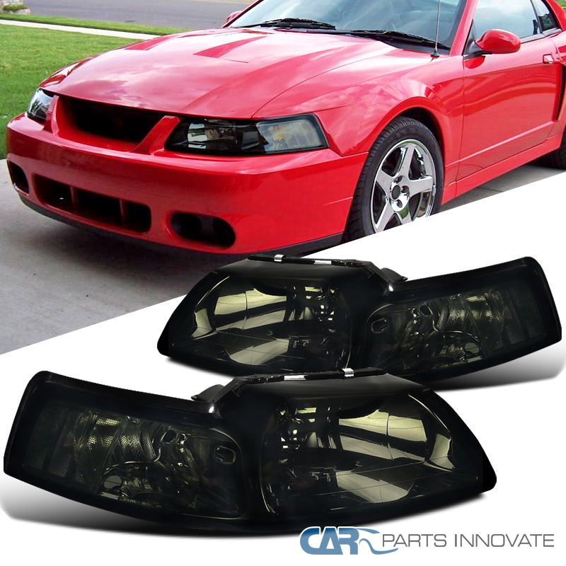 99 Ford Mustang: 1999-2004 Ford Mustang Replacement Euro Smoke Tinted Head