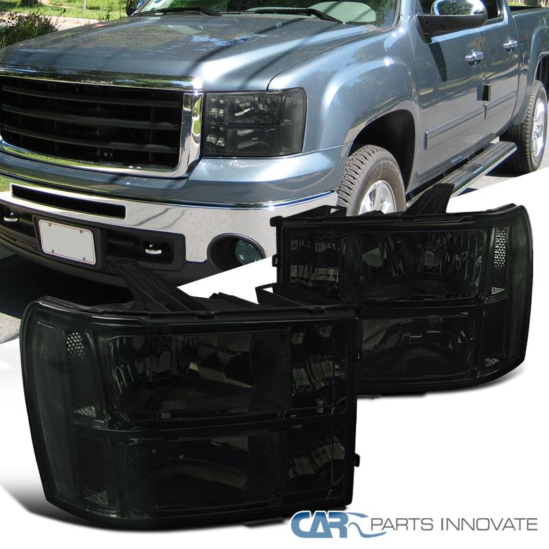 2007-2013 GMC Sierra Clear Smoke Replacement Headlights