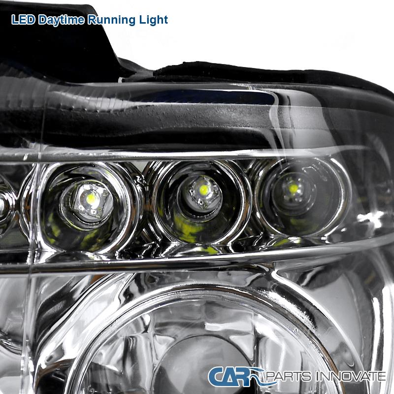 2001-2003 BMW E53 X5 Halo Projector Headlights W/LED