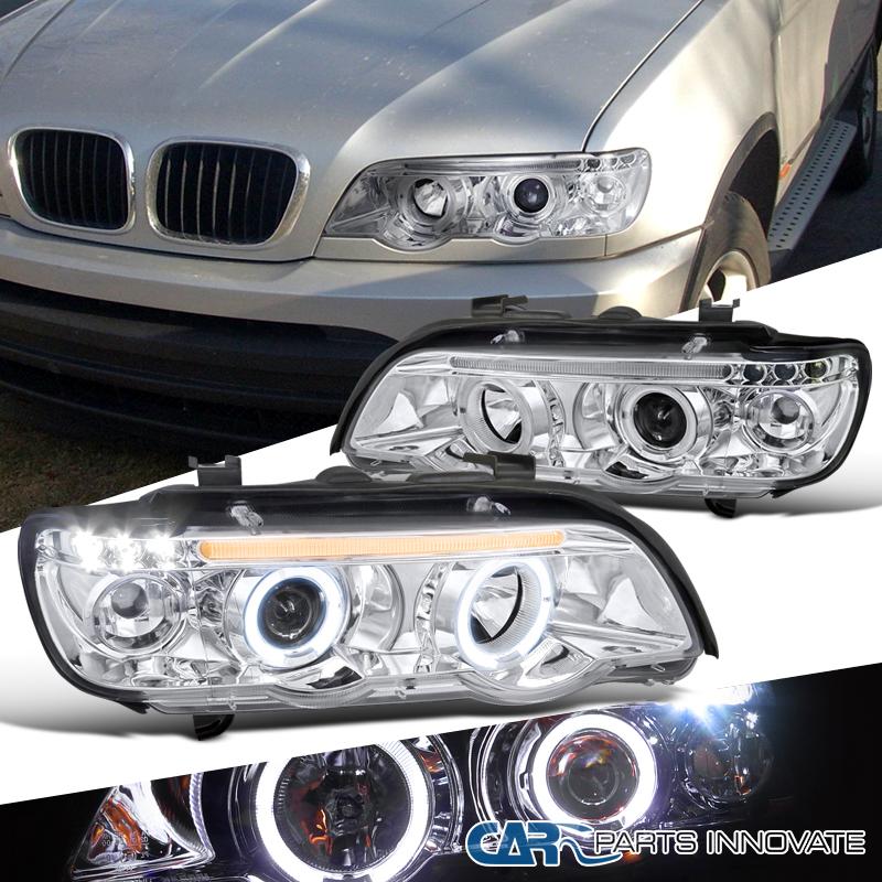 2001-2003 BMW E53 X5 Dual Halo LED Chrome Projector Head