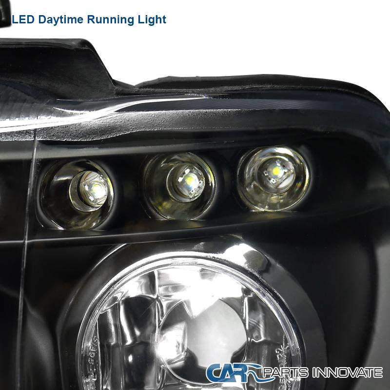 2001-2003 BMW E53 X5 Halo Euro LED Projector Headlights Black