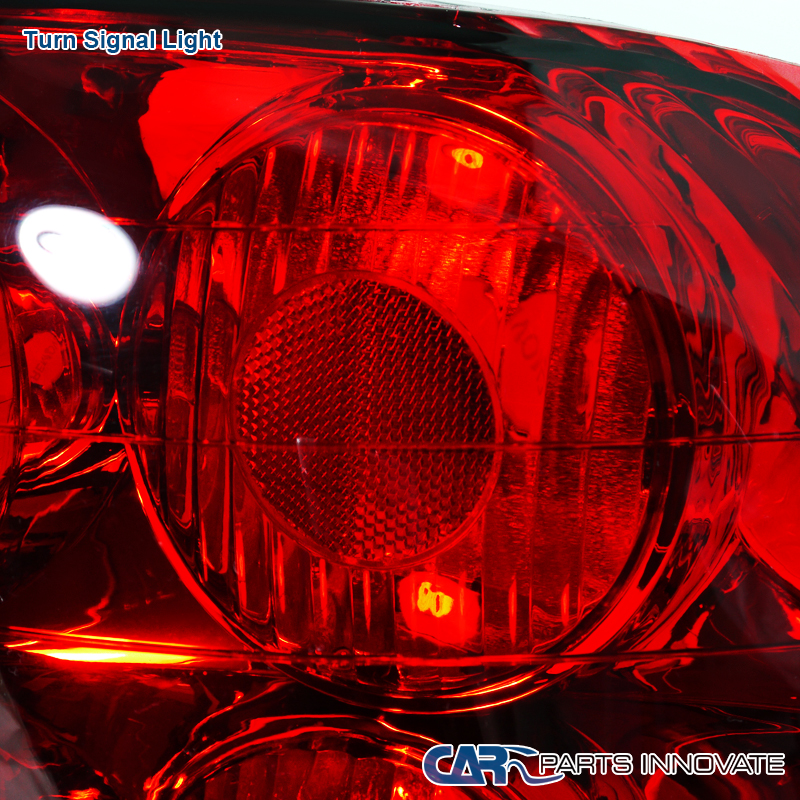 For 1993-1997 Honda Del Sol Red/Clear Tail Lights Rear