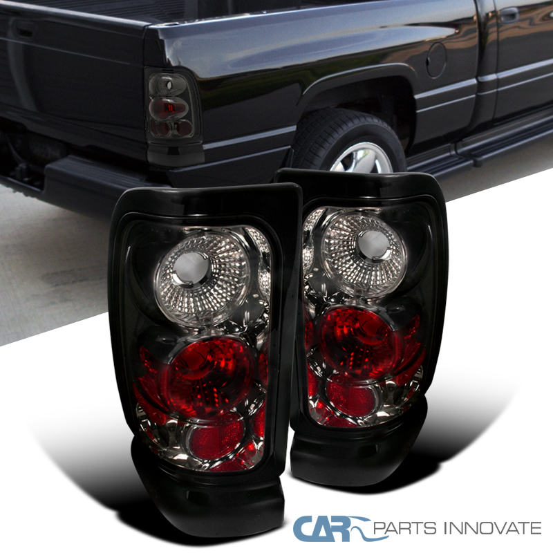 1994 2001 dodge ram 1500 2500 3500 altezza smoke tail lights rear. Black Bedroom Furniture Sets. Home Design Ideas