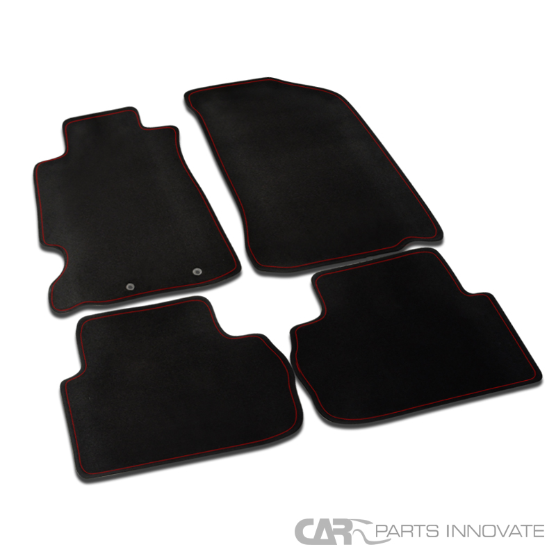 2002-2006 Acura RSX DC5 4PC Red Trim Black Floor Mats
